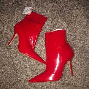 Zara Leather Heeled Booties